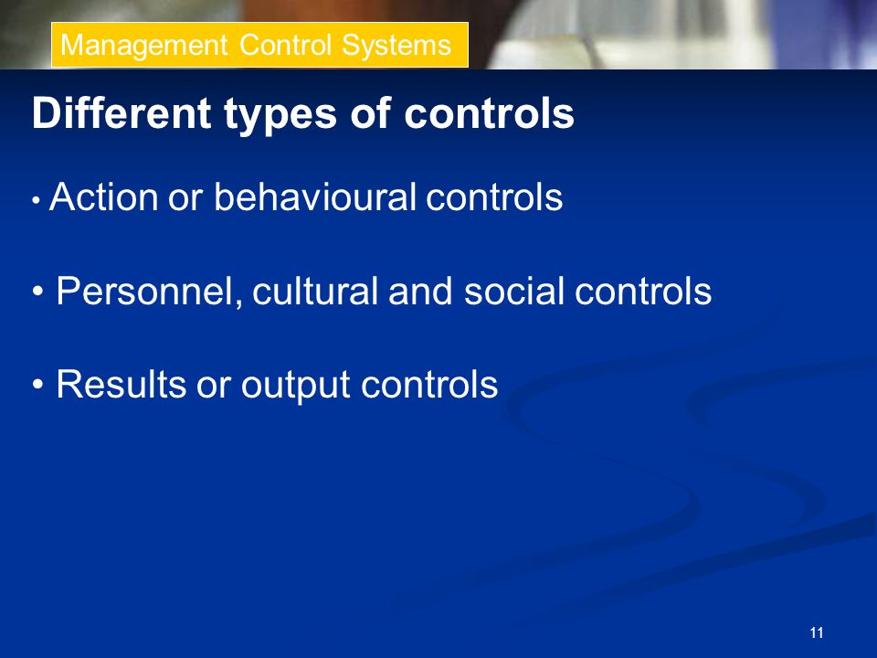 Different types of controls