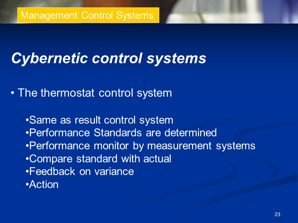 Cybernetic control systems