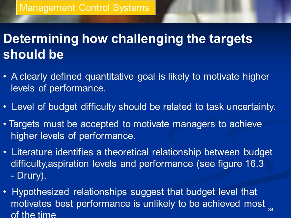 Determining how challenging the targets should be