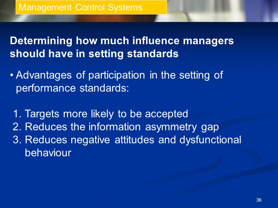 Determining how much influence managers