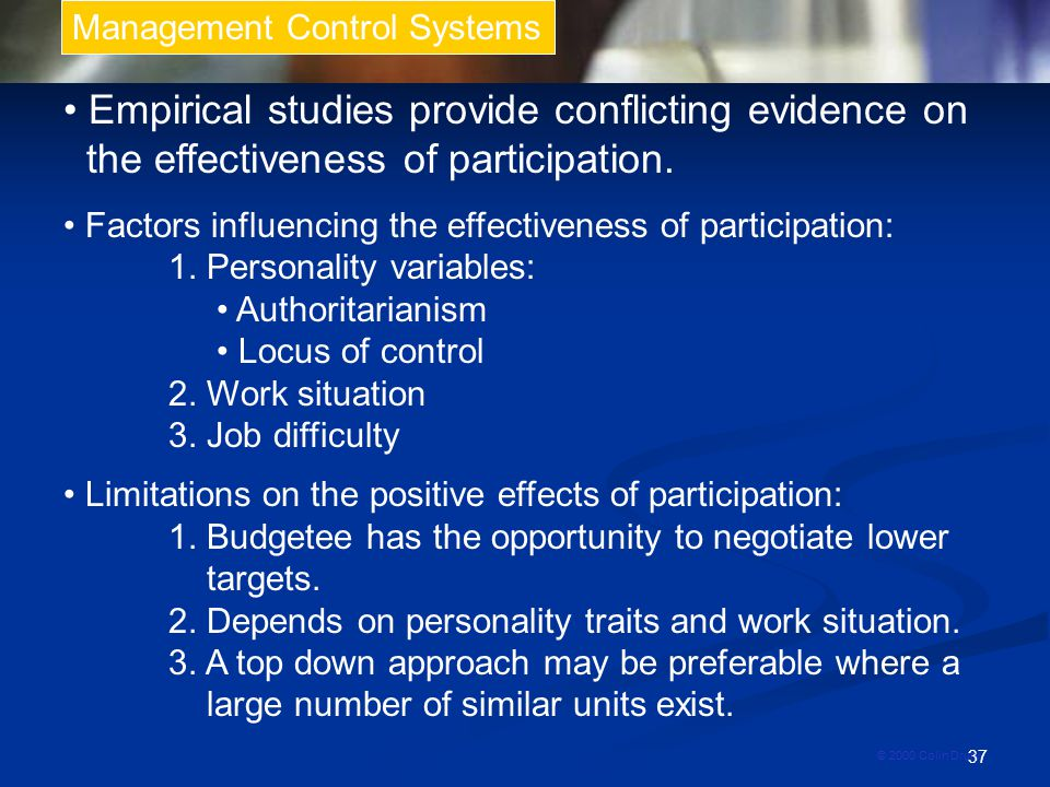 • Empirical studies provide conflicting evidence on