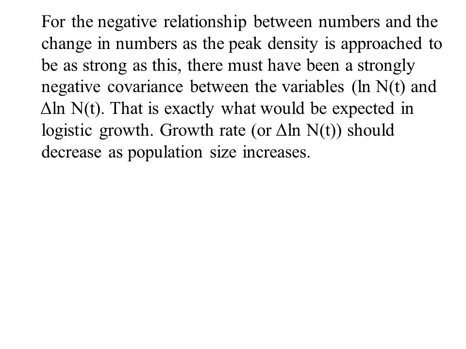 For the negative relationship between numbers and the