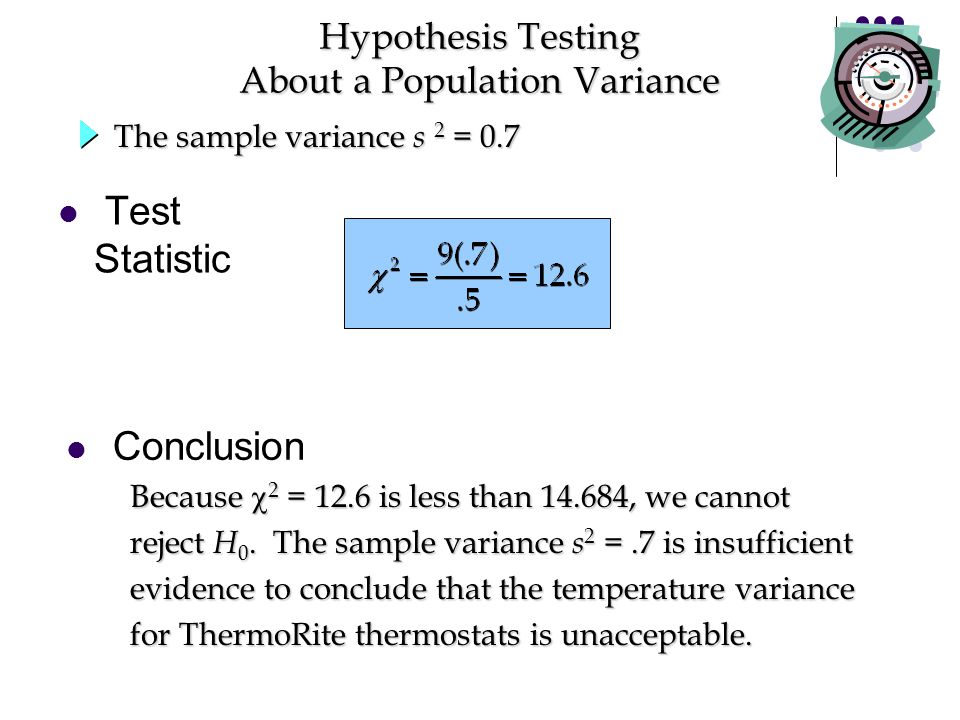 Hypothesis Testing About a Population Variance