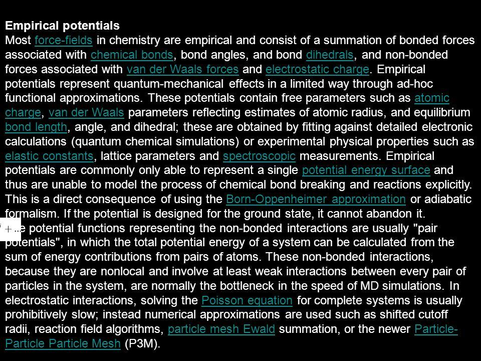 Empirical potentials