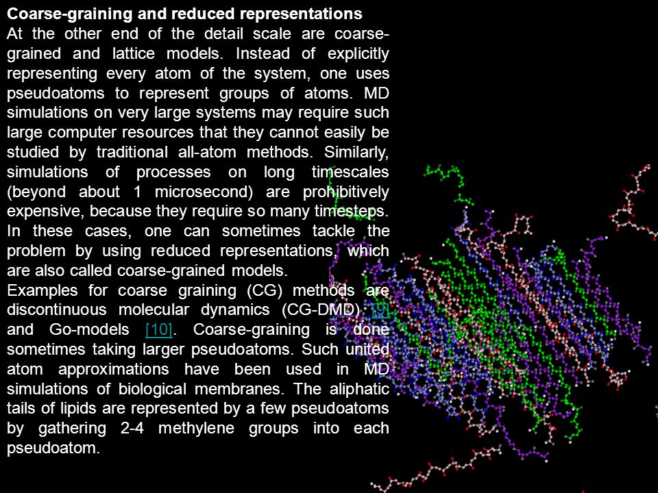 Coarse-graining and reduced representations