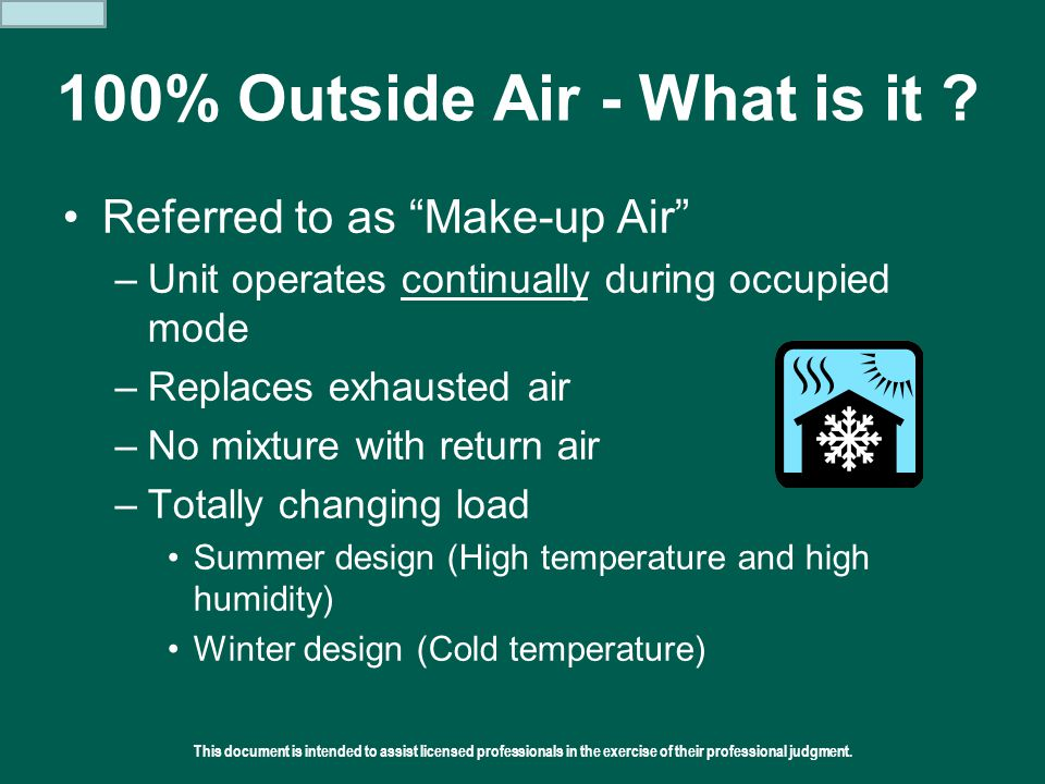 100% Outside Air - What is it