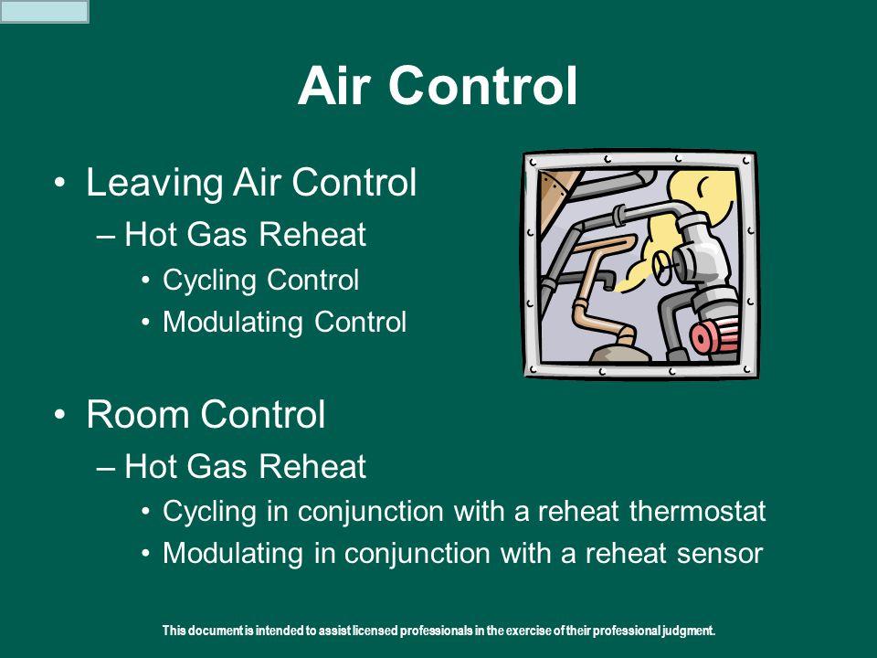 Air Control Leaving Air Control Room Control Hot Gas Reheat