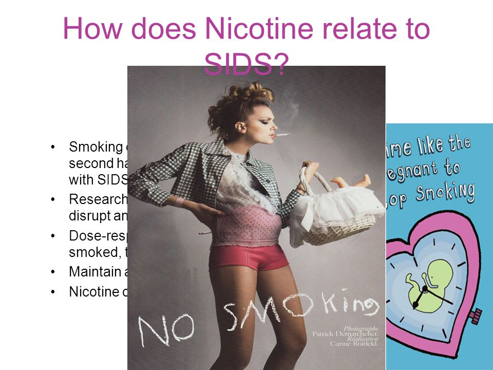 How does Nicotine relate to SIDS
