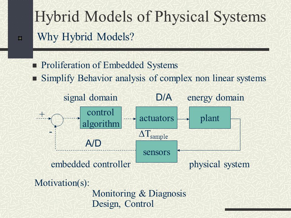 Hybrid Models of Physical Systems