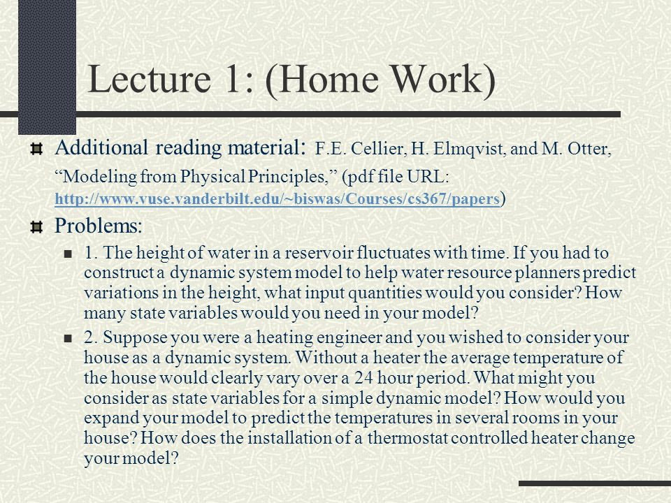 Lecture 1: (Home Work)