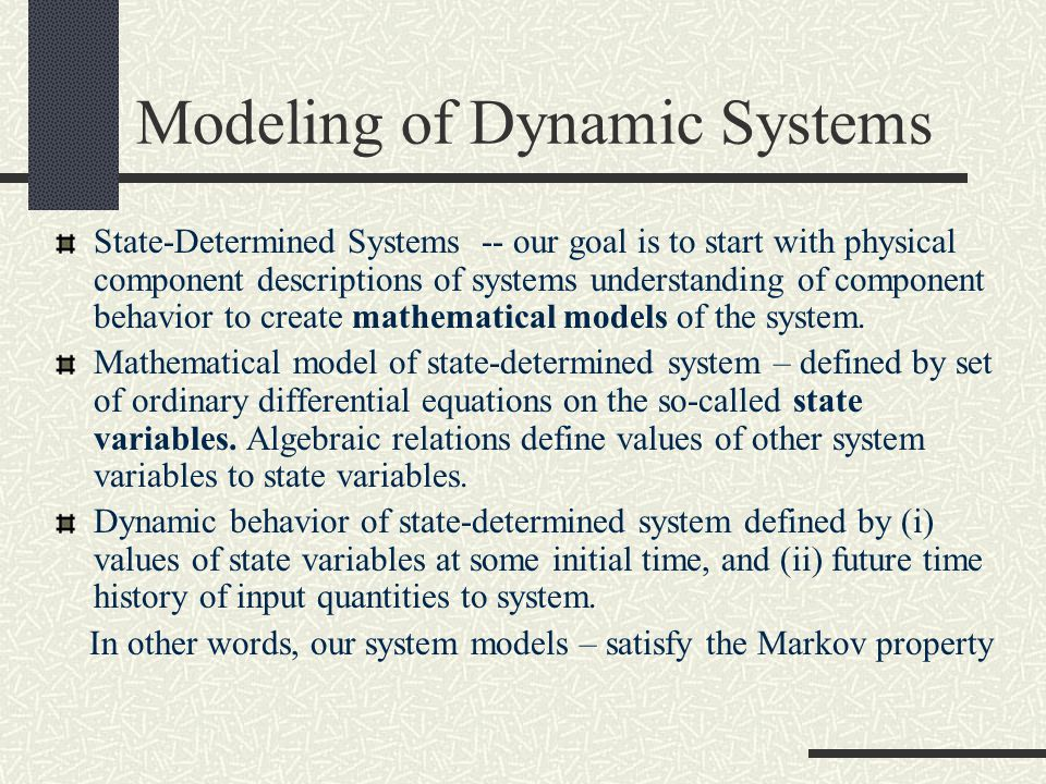 Modeling of Dynamic Systems