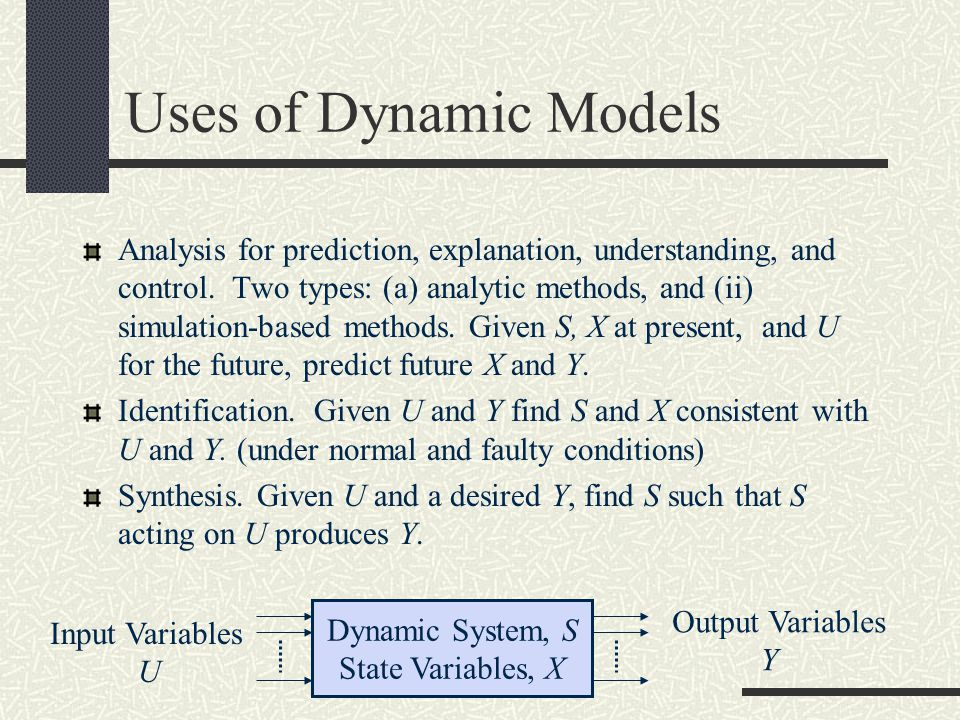 Uses of Dynamic Models