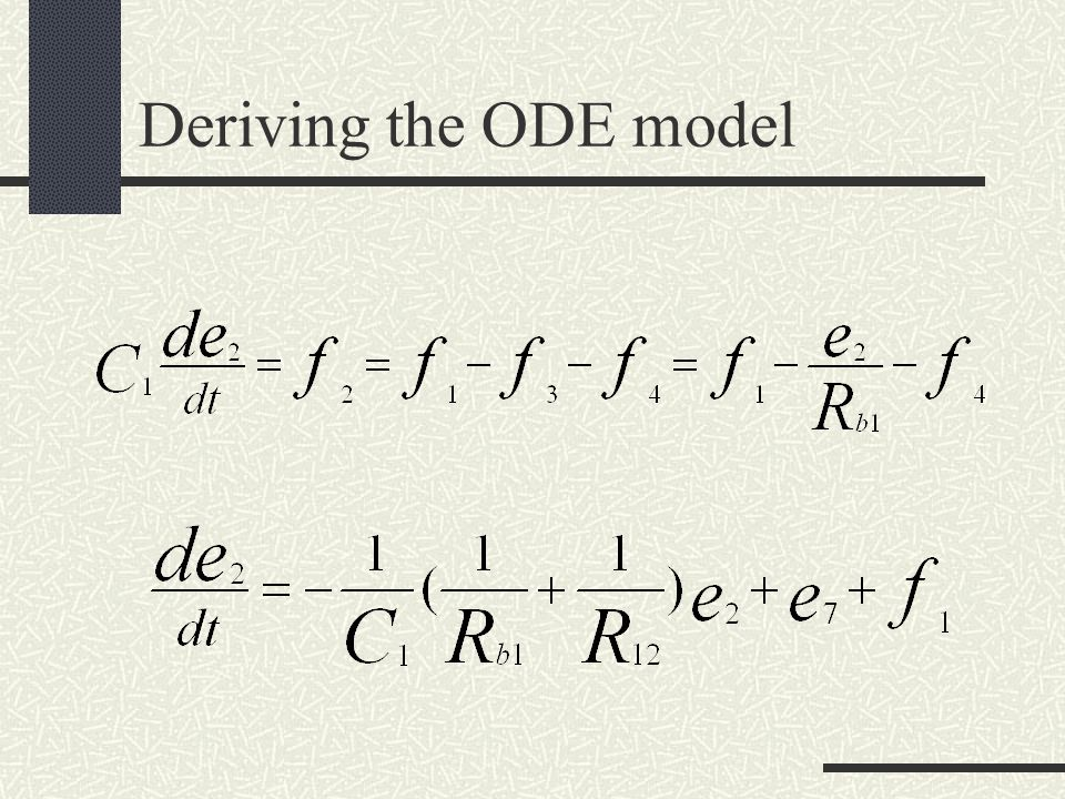 Deriving the ODE model