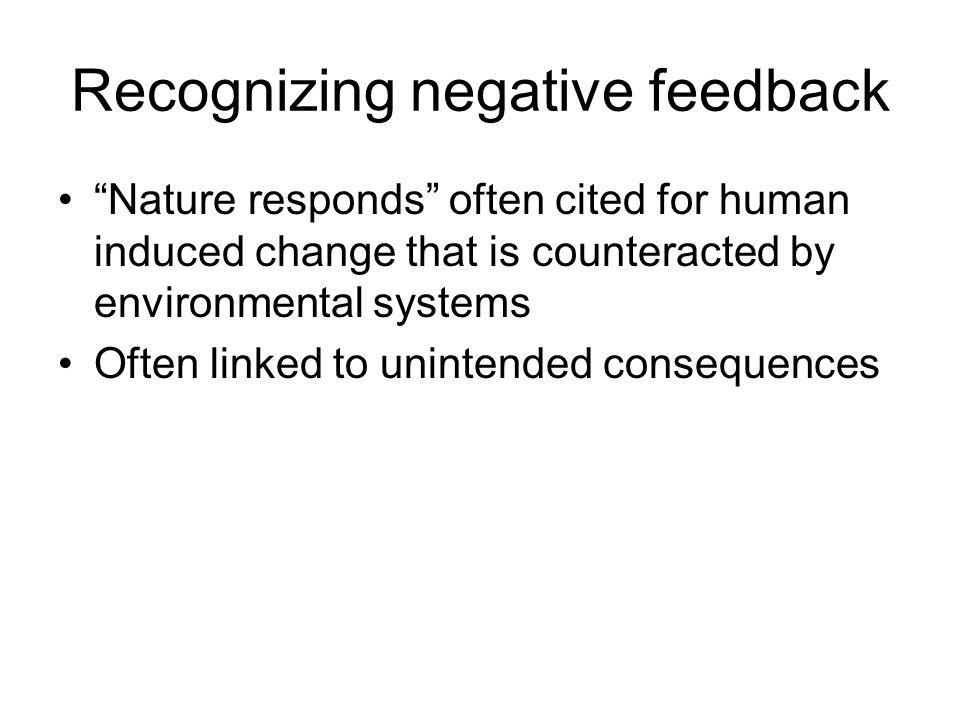 Recognizing negative feedback