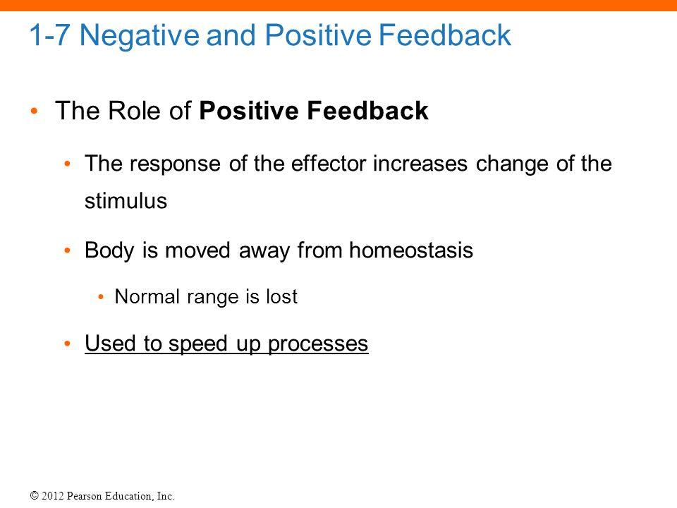 1-7 Negative and Positive Feedback