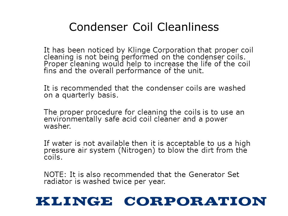 Condenser Coil Cleanliness