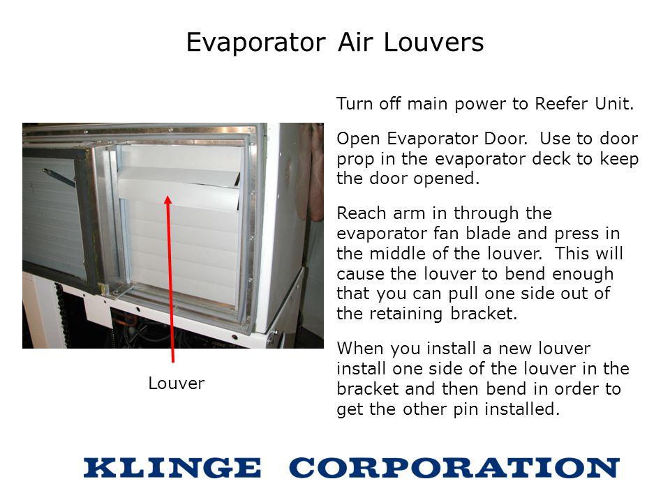 Evaporator Air Louvers