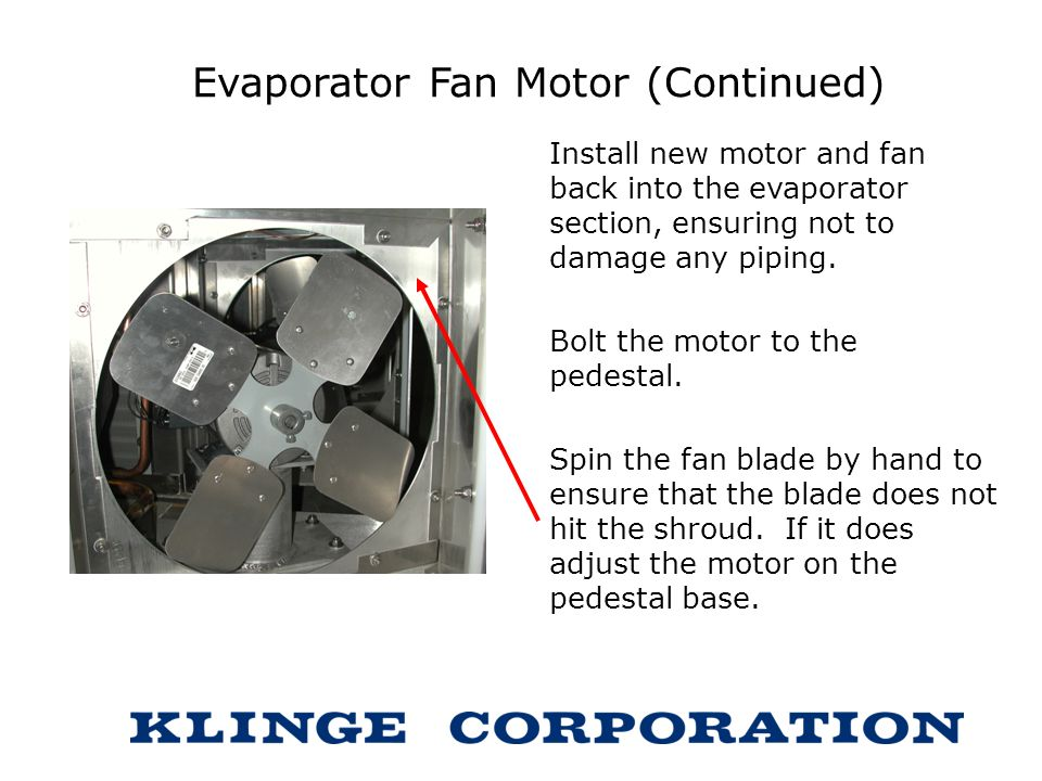 Nmr 262 repair instructions ppt download for Evaporator fan motor troubleshooting