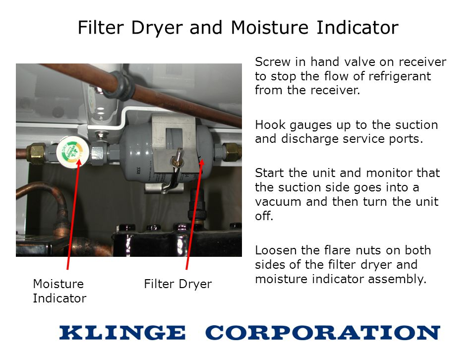 Filter Dryer and Moisture Indicator