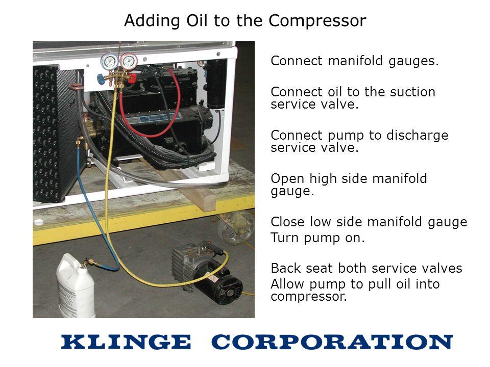Adding Oil to the Compressor