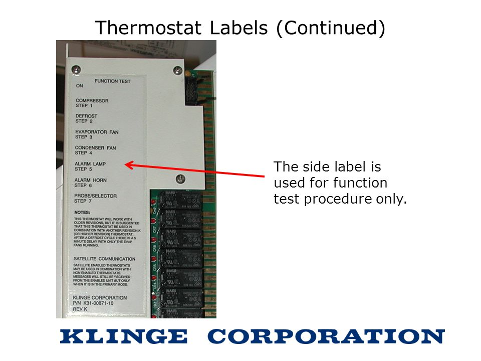 Thermostat Labels (Continued)