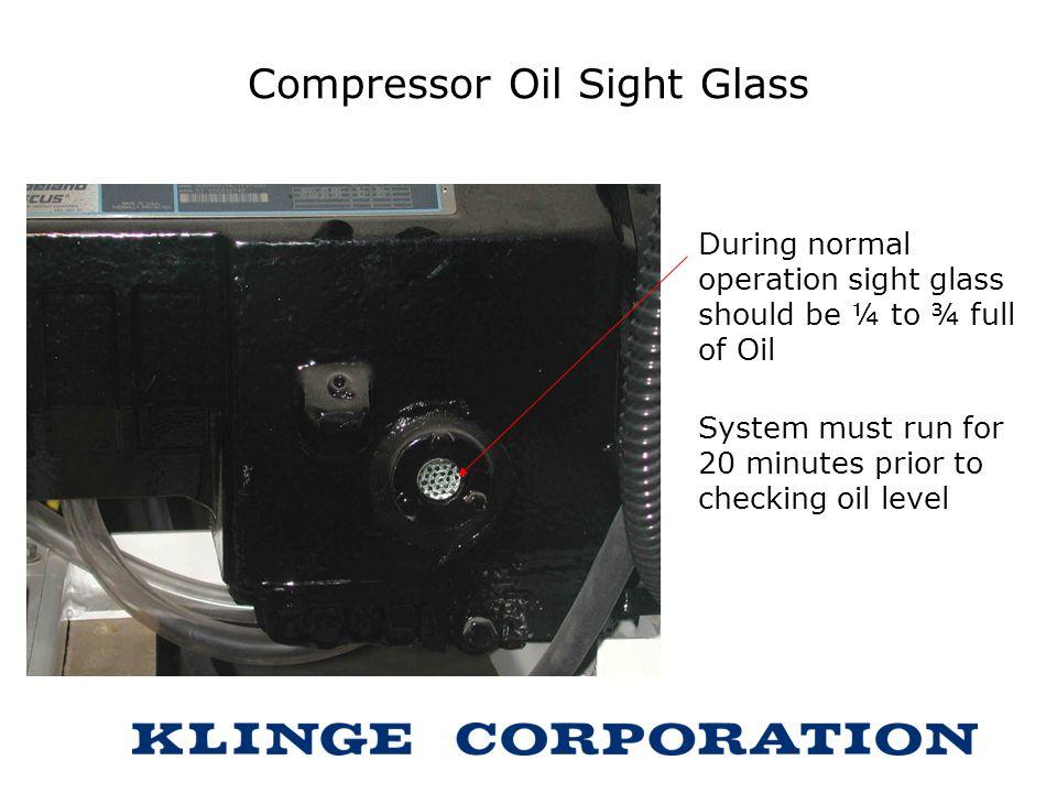 Compressor Oil Sight Glass