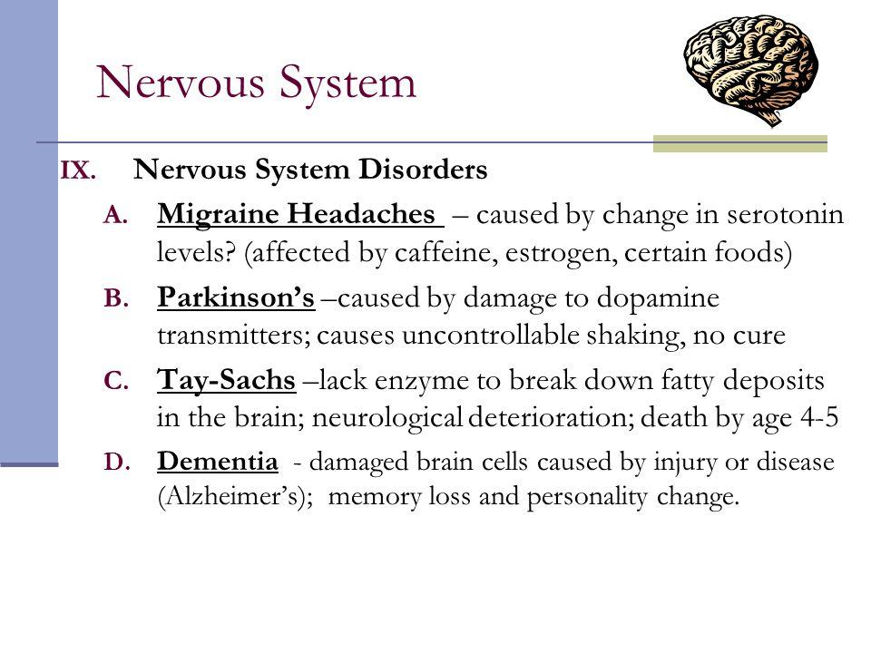 Nervous System Nervous System Disorders