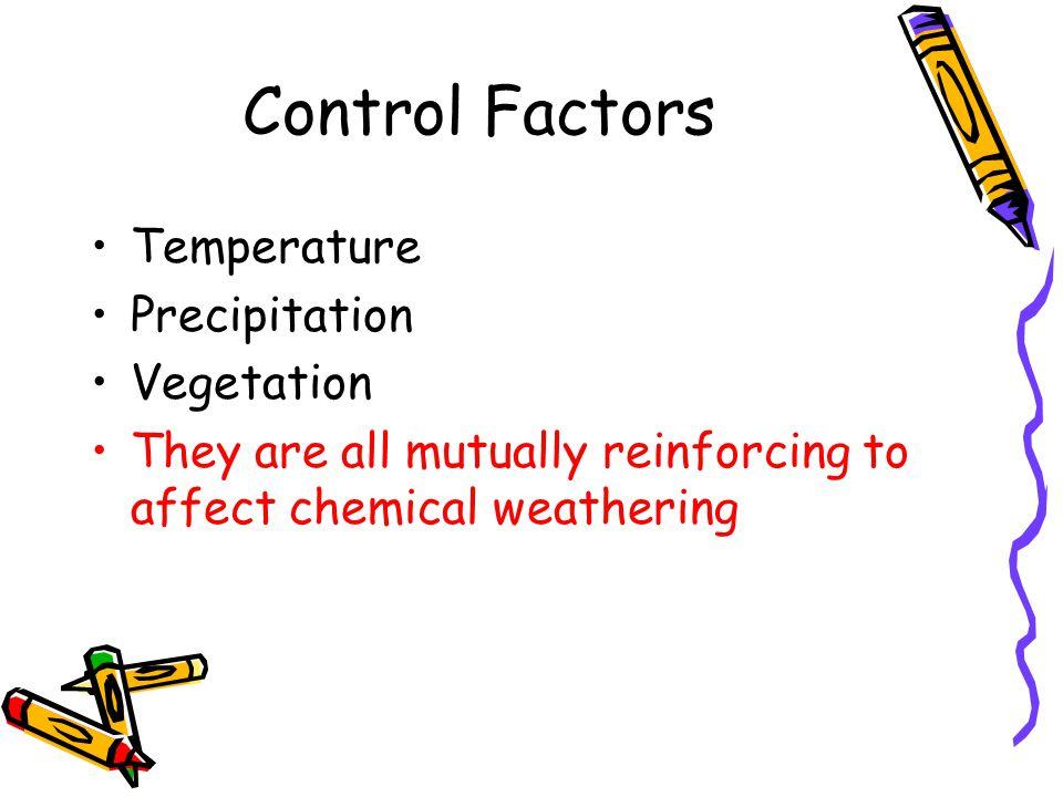 Control Factors Temperature Precipitation Vegetation