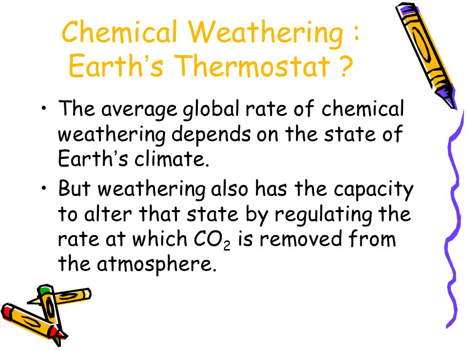 Chemical Weathering : Earth's Thermostat
