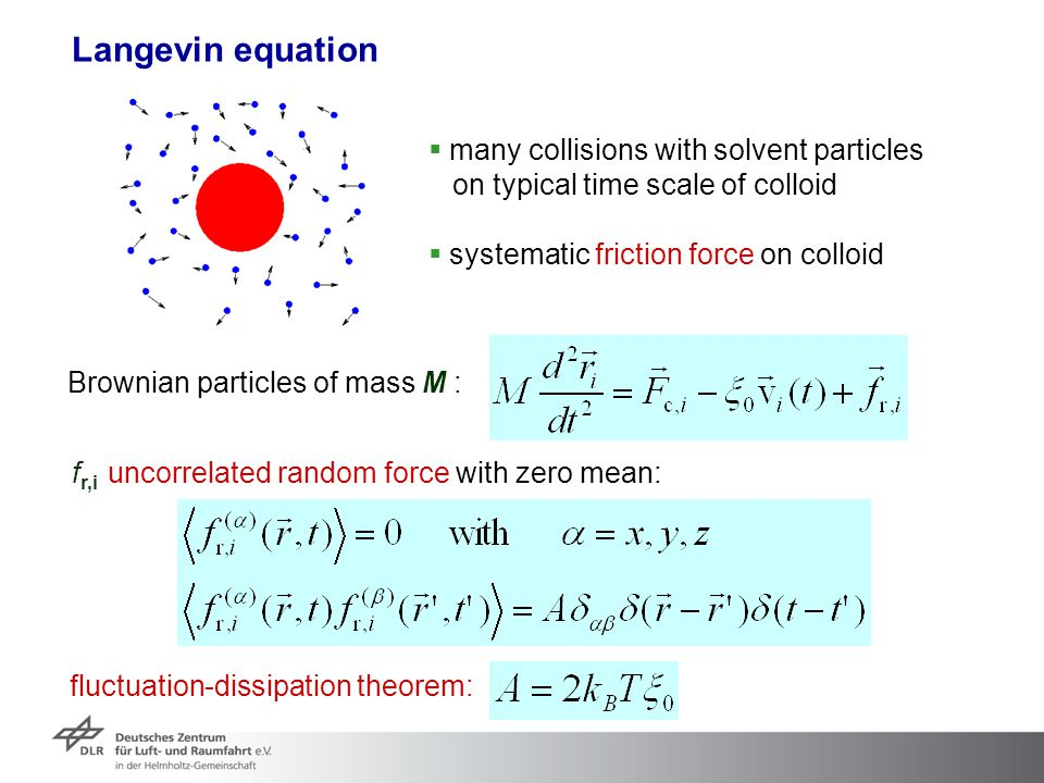Langevin equation many collisions with solvent particles