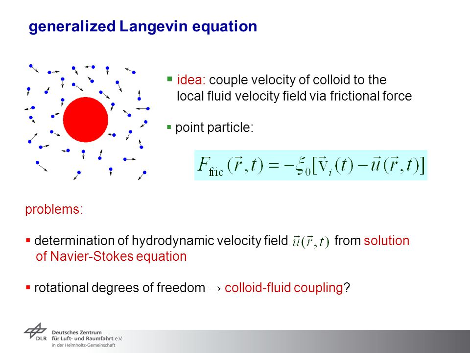 generalized Langevin equation
