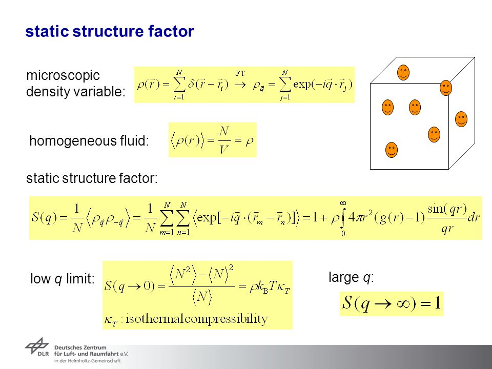 static structure factor