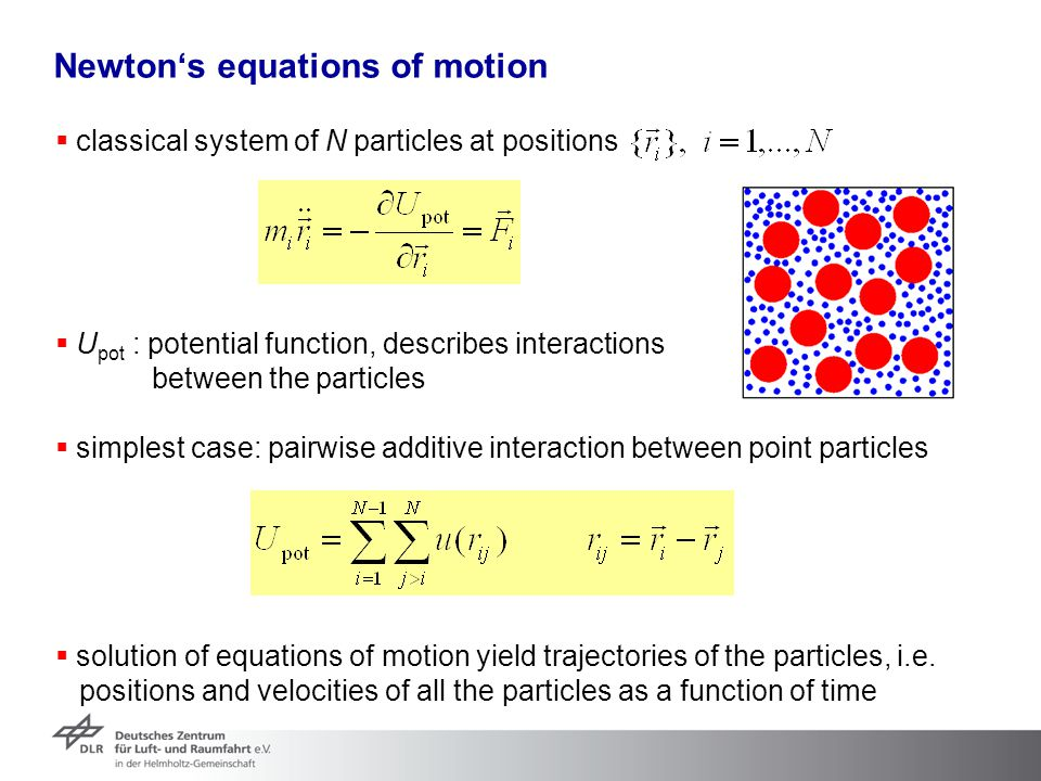Newton's equations of motion