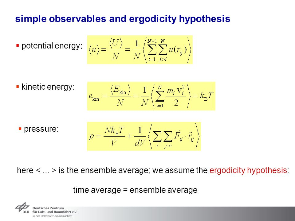 simple observables and ergodicity hypothesis