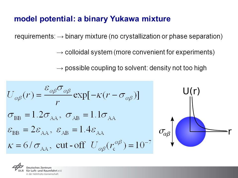model potential: a binary Yukawa mixture