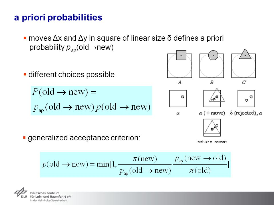 a priori probabilities