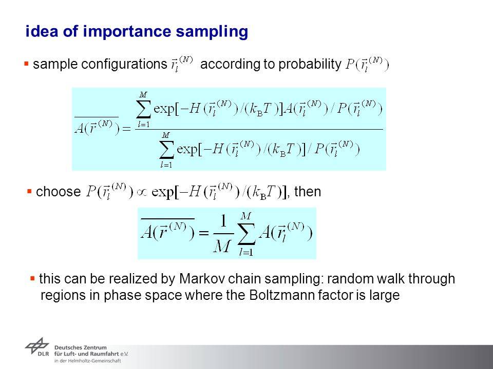 idea of importance sampling