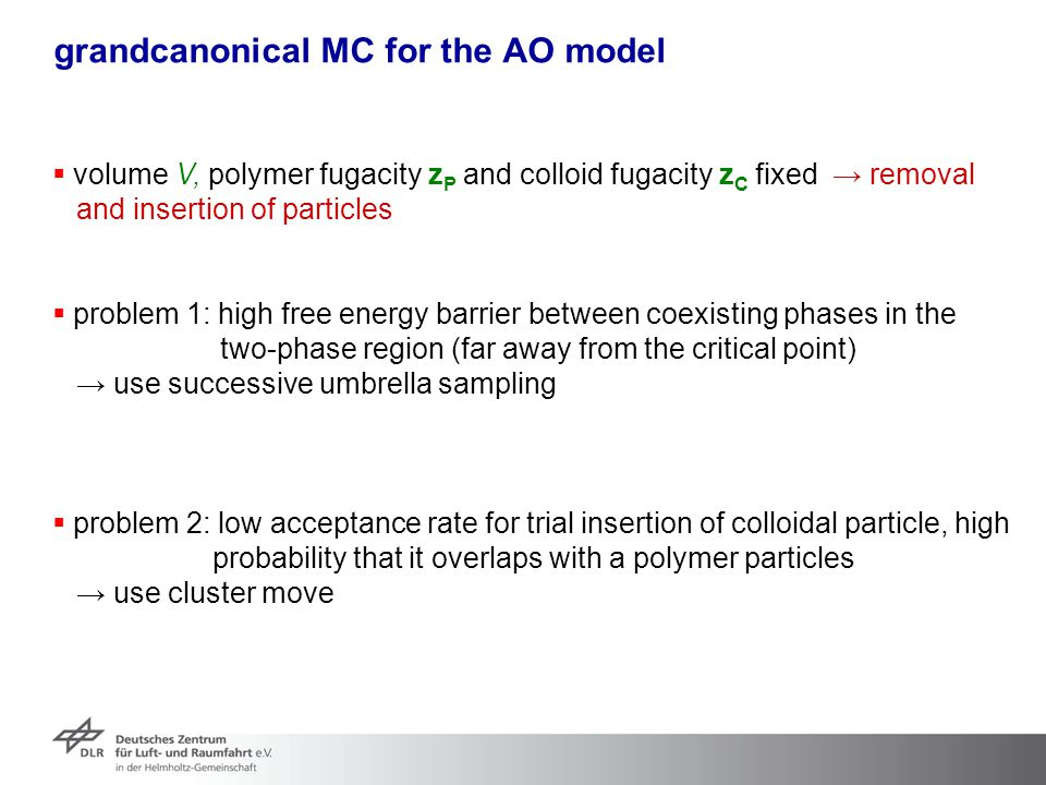 grandcanonical MC for the AO model