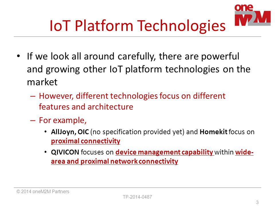 IoT Platform Technologies