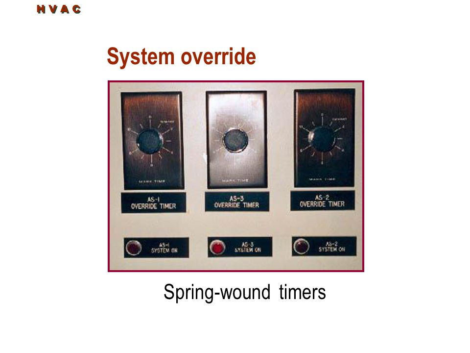 H V A C System override Spring-wound timers