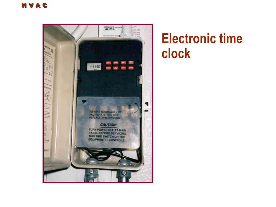 H V A C Electronic time clock