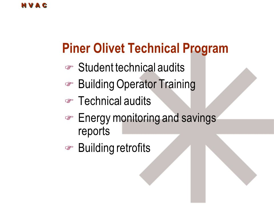 Piner Olivet Technical Program