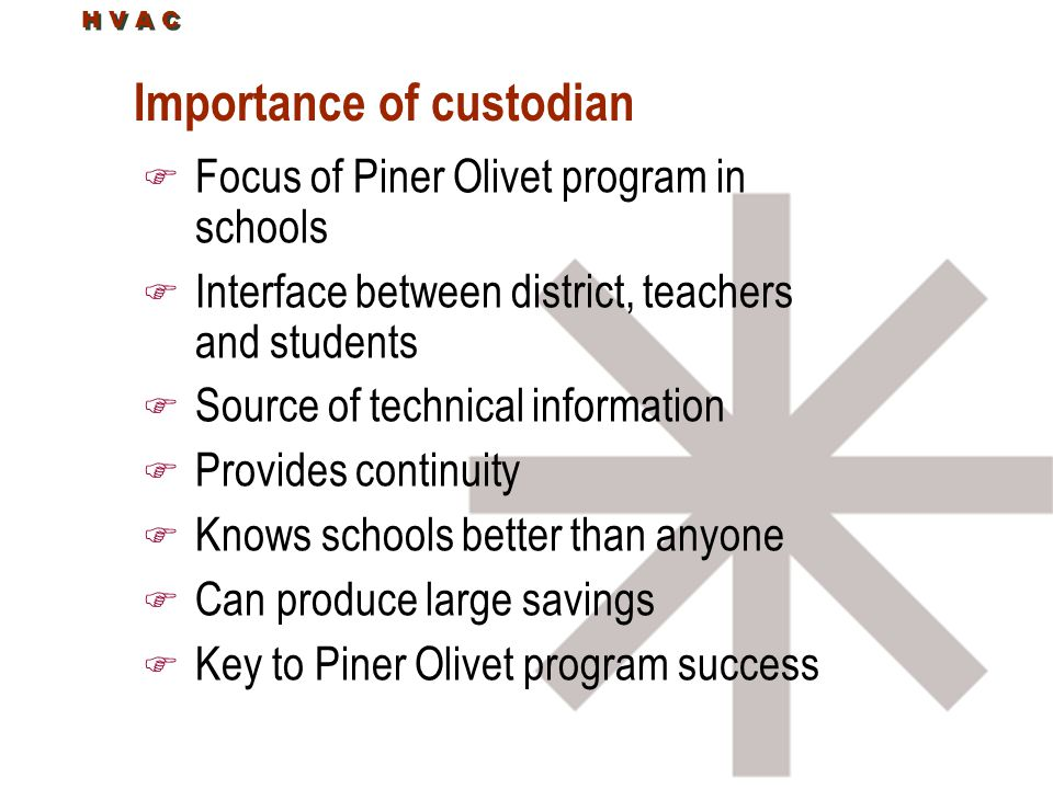 Importance of custodian