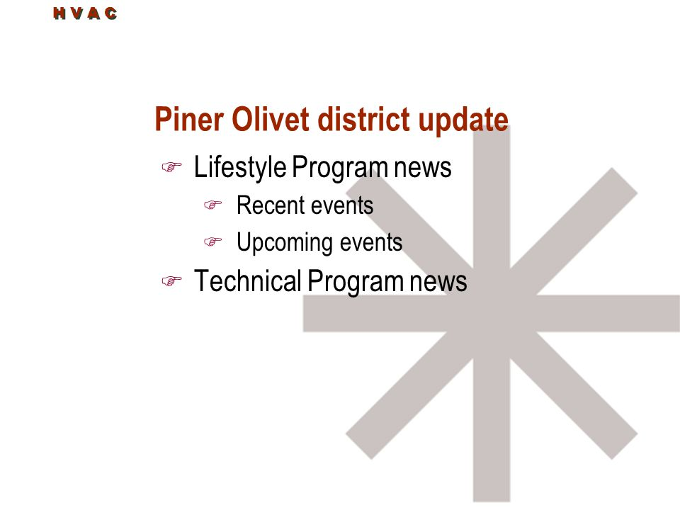 Piner Olivet district update