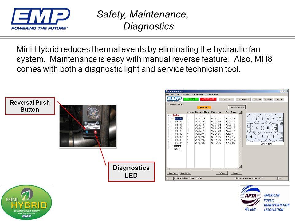 Safety, Maintenance, Diagnostics