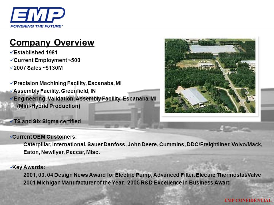 Company Overview Established 1981 Current Employment ~500