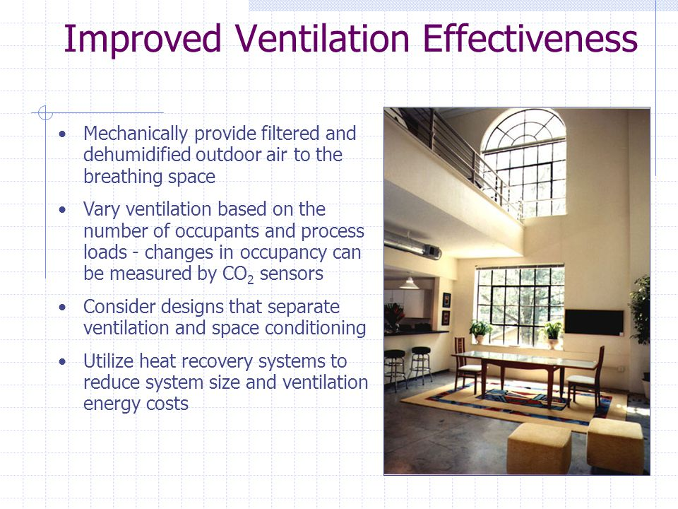 Improved Ventilation Effectiveness