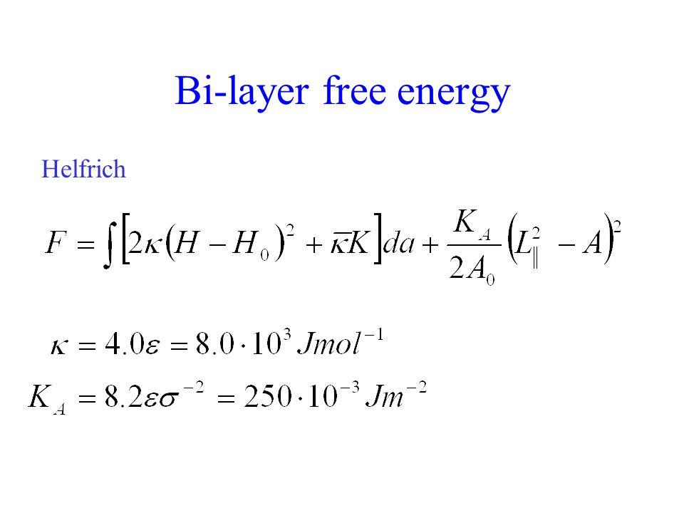 Bi-layer free energy Helfrich