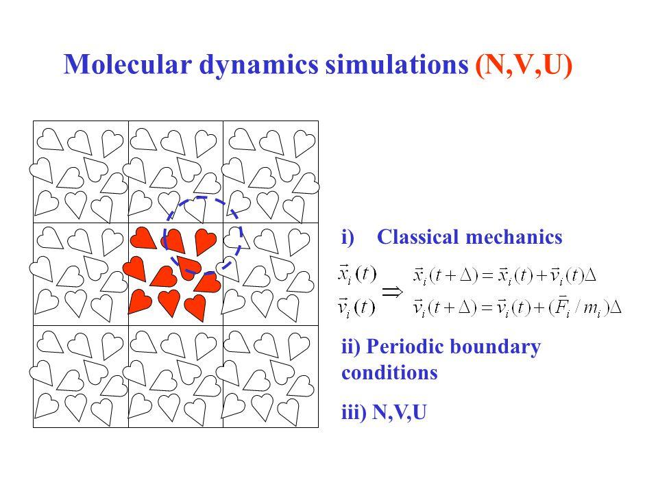 Molecular dynamics simulations (N,V,U)