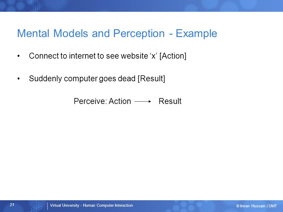 Mental Models and Perception - Example